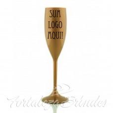 Taça em Acrílico - Dourada 165ml impressão em uma cor min 100unid - Para Outras quantidades consultar. Obs: Verificar disponibilidade de cor.