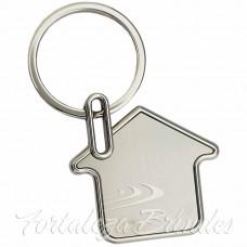 Chaveiro Casa Aço Inox resinado  - Cod YS833 - Min 100 unid - Para outras quantidades consultar. Verificar Disponibilidade. Para mais informações adicone o whatsapp - 85 98837.1988