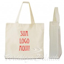 Eco-Bag personalizada em uma cor min50unid  - Para Outras quantidades consultar. Para mais informações adicone o whatsapp - 85 98837.1988